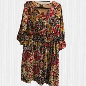 🆕Avenue Size 18/20 multi coloured dress